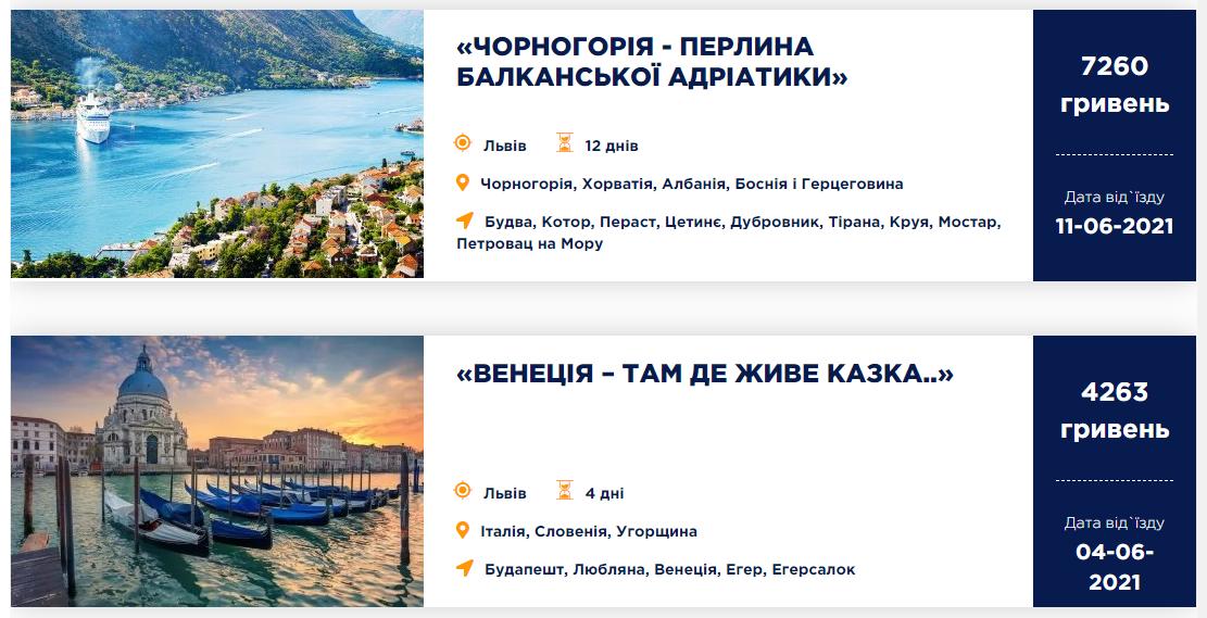 Створення сайту для агенції подорожей